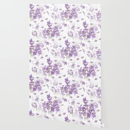 Lavender Bouquets On White Background #decor #society6 #buyart Wallpaper