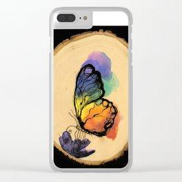 Summer Nectar Clear iPhone Case