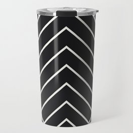 Diamond Series Pyramid White on Charcoal Travel Mug