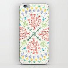 Plant Line Art 4 iPhone & iPod Skin