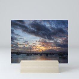 Sunset in Mauritius island Mini Art Print