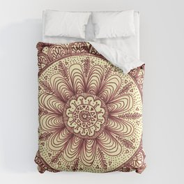 mandala: maroon Comforters