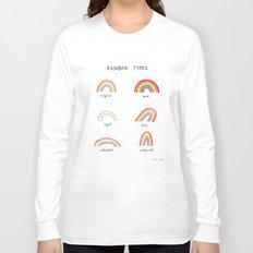 rainbow types Long Sleeve T-shirt