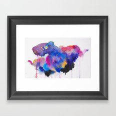 Worried Color Framed Art Print