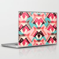 yetiland Laptop & iPad Skins featuring Raccoons and hearts by Yetiland