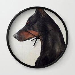 Doberman Profile Wall Clock