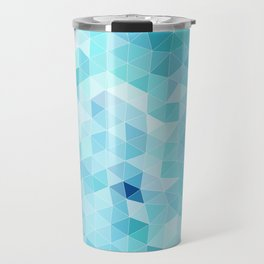 blue triangles Travel Mug