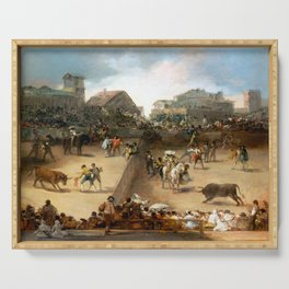 Goya Bullfight in a Divided Ring Serving Tray