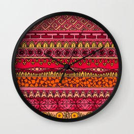 Yzor pattern 013 Summer Sunset Wall Clock