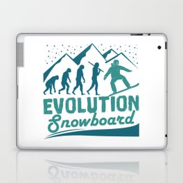 Evolution Snowboard Laptop & iPad Skin