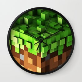 Creeper Mining Wall Clock