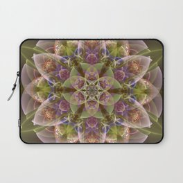 Fantasy flower with tribal patterns Laptop Sleeve
