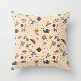 Memphis Inspired Pattern 9 Throw Pillow