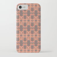 mid century modern iPhone & iPod Cases featuring Vintage Abstract Mid Century Modern Pattern by Reflektion Design