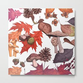 Fall Foliage II Metal Print