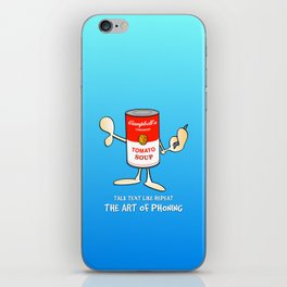 Tomato soup phone (blue) iPhone Skin