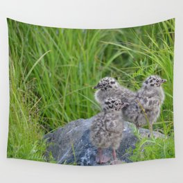 Triplets - Baby Seagulls Wall Tapestry