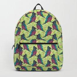 Bulbul tropical pattern Backpack