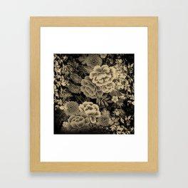 Vintage Floral Abstract Framed Art Print