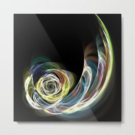 Abstract Colorful Feather Metal Print