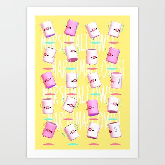 Marshmallow Club Art Print