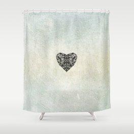 Transparent Heart Shower Curtain