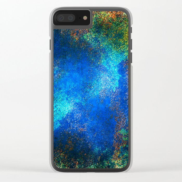 wall texture inside blues Clear iPhone Case