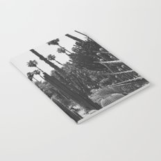 Tropical Cacti Gardens BW Notebook