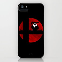 Smash and Laugh (red) iPhone Case