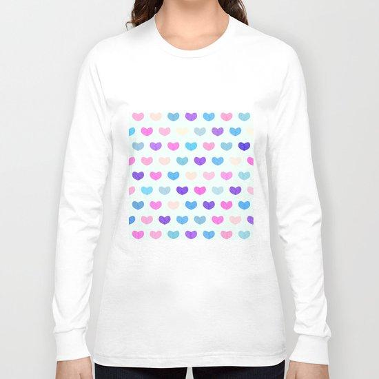 Colorful Cute Hearts II Long Sleeve T-shirt