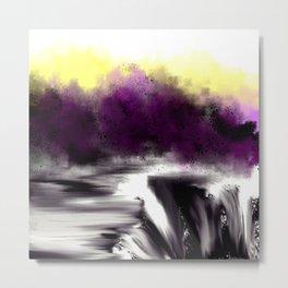 Broken Falls by the Purple Trees Metal Print