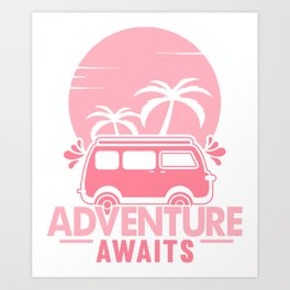 Adventure Awaits pw Art Print