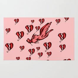 sometimes you have to fly through a sea of broken hearts Rug