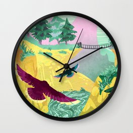 Canyon Flight Wall Clock