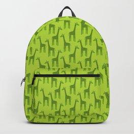 Giraffes-Green Backpack