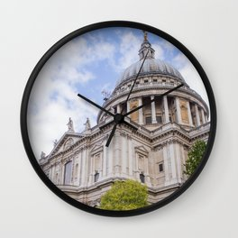St. Paul's Cathedral | London Europe City Architecture Photography Wall Clock