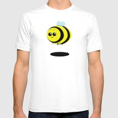 Fatty Bee SMALL White Mens Fitted Tee