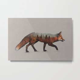 The Red Fox Metal Print