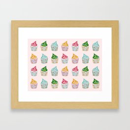 Cute as a multicoloured cupcakes! Framed Art Print
