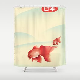 Japan Goldfish Shower Curtain