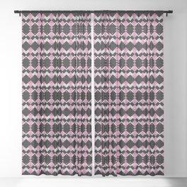 Pink Flamingos Art Deco Pattern Sheer Curtain