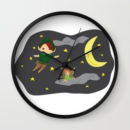 Peter Pan on the Night Sky Wall Clock