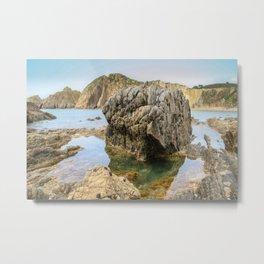Playa del Silencio (Beach of Silence) Spain Metal Print