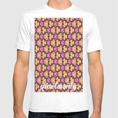 pattern39 White Mens Fitted Tee MEDIUM