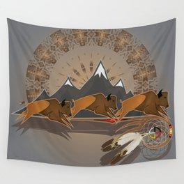Native American Indian Buffalo Nation Wall Tapestry