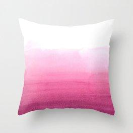 Dip dye in magenta Throw Pillow