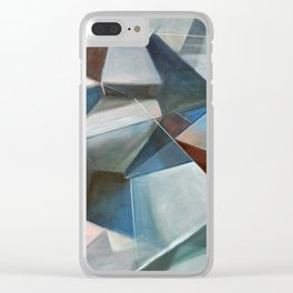 Spacial Abstraction II Clear iPhone Case