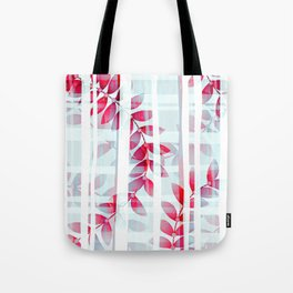 Abstract Foliage Pattern Tote Bag