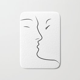 Kiss Love Couple Together Bath Mat