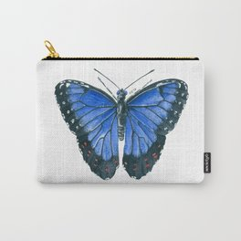 Blue Morpho butterfly watercolor painting Carry-All Pouch